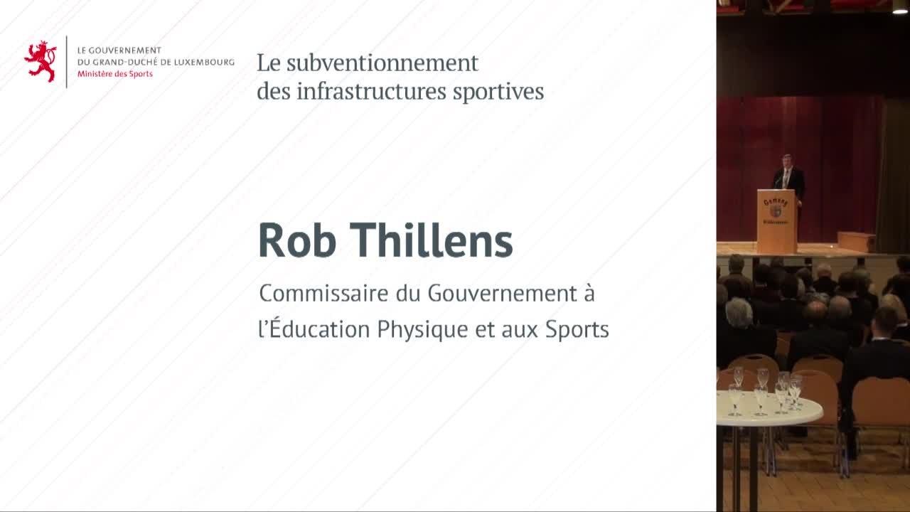 Journée des élus 2015 - Présentation du Projet Sport par Rob Thillens