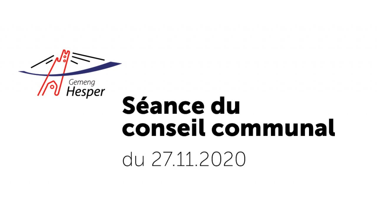 Conseil communal du 27 novembre 2020